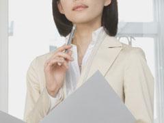 女性の名刺の画像